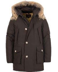 Woolrich Wood Brown Cotton Df Arctic Parka - Multicolour