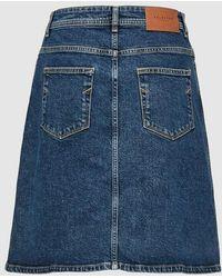 SELECTED - High Waist Denim Skirt - Lyst