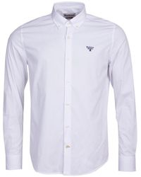 Barbour Seathwaite Slim Fit White Poplin Shirt