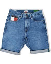 Tommy Hilfiger Shorts de mezclilla relajados Rey - Azul