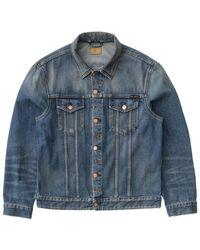 Nudie Jeans Jeans Jerry Jacket Denim usé foncé - Bleu