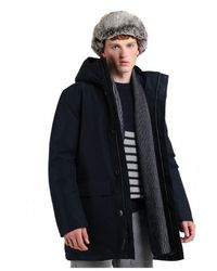 Woolrich - Navy Melton Gore Tex Urban Coat - Lyst