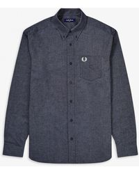 Fred Perry Brushed Oxford Shirt - Black