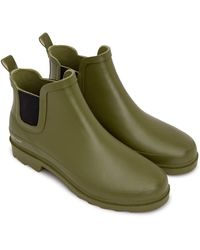 Matt & Nat Lane Waterproof Rain Boot Olive - Green