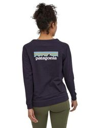 Patagonia Camiseta Ws L S Pastel P 6 Logo Responsibili Piton Purple - Blue