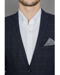 SELECTED Selected Jacket Gray Gray Tiles - Blue