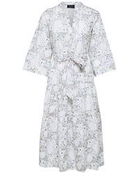 SELECTED - A-shaped Belted Organic Cotton Dress - Lyst