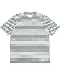 Folk T-shirt à rayures mini fougère - Multicolore