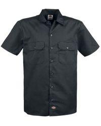 Dickies Camisa Trabajo Mangas Cortas Negra - Negro