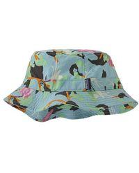 Patagonia Wavefarer Bucket Hat Spoonbills Big Sky Blue