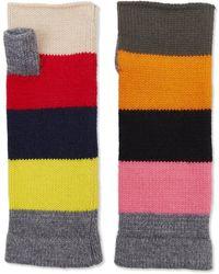 The West Village Cashmere Multicoloured Cashmere Wrist Warmers - Multicolor