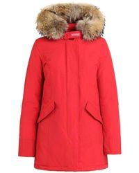 Woolrich Fur-trim Arctic Parka - Red