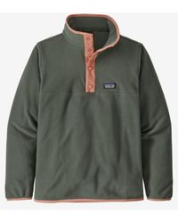 Patagonia Boys Micro D Snap T Pullover Kale Green