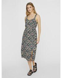 Vero Moda Floral Print Midi Dress - Multicolour