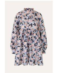 Stine Goya Vestido Jasmine Organza Floral - Multicolor