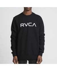 RVCA Big Crew Sweatshirt Black