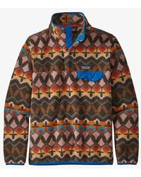 Patagonia Ws Lw Synch Snap T P O Companions Big Anthos Pink - Multicolore