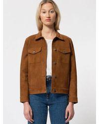 Nudie Jeans Bettina Nubuck Jacket Camel - Brown