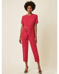 Great Plains Soho Jumpsuit In Cerise - Red