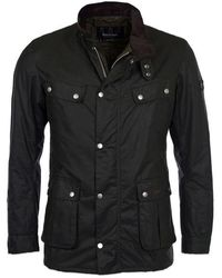 Barbour Duke Wax Jacket Sage - Noir