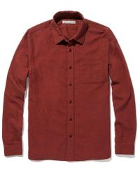 Outerknown Transitional Faded Red Flannel Shirt