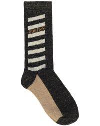 Becksöndergaard Https://www.trouva.com/it/products/-black-beige-and-gold-dagmar-poetry-socks - Nero