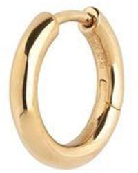 Maria Black Polo Huggie Hoop Gold - Metallizzato