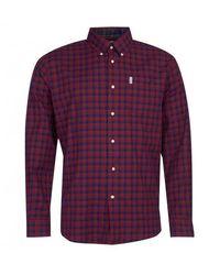 Barbour Camisa de vestir Country Check 14 rojo intenso - Morado