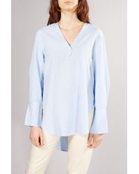SELECTED Blue Pinstripe Abby Blouse