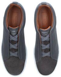 Ermenegildo Zegna Zapatillas grises de triple puntada