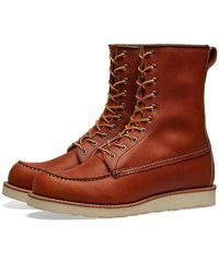 "Red Wing 877 Heritage Work 8"" Moc Toe Boot - Brown"