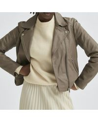 SELECTED Https://www.trouva.com/it/products/selected-femme-katie-leather-jacket-grey - Multicolore