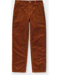 Carhartt Single Knee Pant Corduroy Brandy Rinsed - Brown