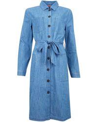 Barbour Vestido Tynemouth Authentic Wash - Azul