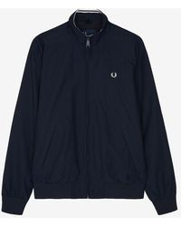 Fred Perry Polyester And Polyamide Brentham Jacket - Blue
