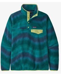Patagonia Jersey Ws Lightweight Synchilla Snap T Fleece Aurora Dark Borealis Green - Mehrfarbig