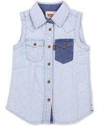 Levi's Birgit Sleeveless Shirt - Blue