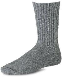 Red Wing Cotton Ragg Socks Black Grey