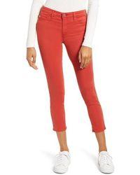 AG Jeans Vaqueros rojos Prima Crop Canyon Ridge