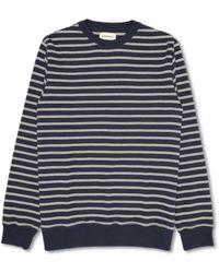 Oliver Spencer Sweatshirt Robin Sweat-shirt d'avoine - Bleu