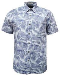 Pendleton Camisa Aloha Ss Estampado Palmera Azul
