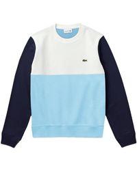 Lacoste Https://www.trouva.com/it/products/-colour-block-crew-neck-sweat-sh-5185-blue-white-navy
