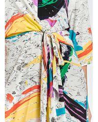 Essentiel Antwerp Robe à nœud Zlatter Paint Splatter - Multicolore