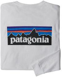 Patagonia Ms L S P 6 Logo Responsibili Tee White - Gray