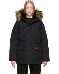 Carhartt Wip Black Hoodie Coat
