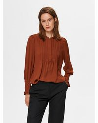 SELECTED Paprika Blouse With Mandarin Collar - Multicolour