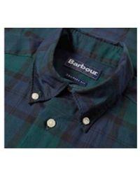 Barbour Camisa de tartán negra - Azul