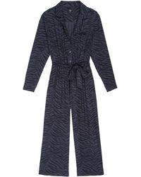Rails Callan Jumpsuit - Charcoal Tiger Stripe - Blue