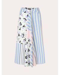 Stine Goya Https://www.trouva.com/it/products/stine-goya-lilah-skirt-flowermarket-stripes - Blu