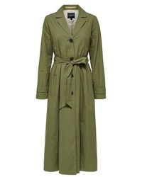 SELECTED Organic Cotton Trench Coat - Green